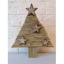Kerstboom van bamboe met sterren