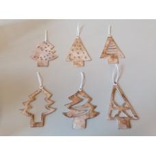 Kerstboomhangertjes set van 6 stuks
