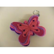sleutelhanger vilten vlinder